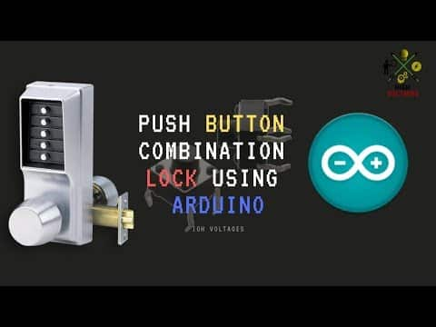 Push Button Combinational lock using arduino