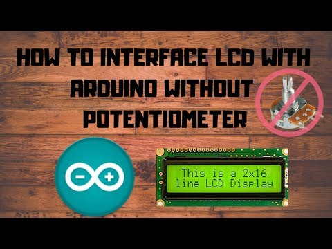 Arduino LCD interfacing without potentiometer