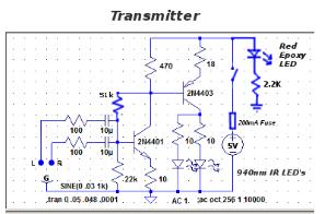 WIRELESS HEADPHONES USING IR Transmitter Circuit