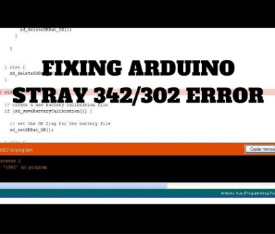 stray error Arduino